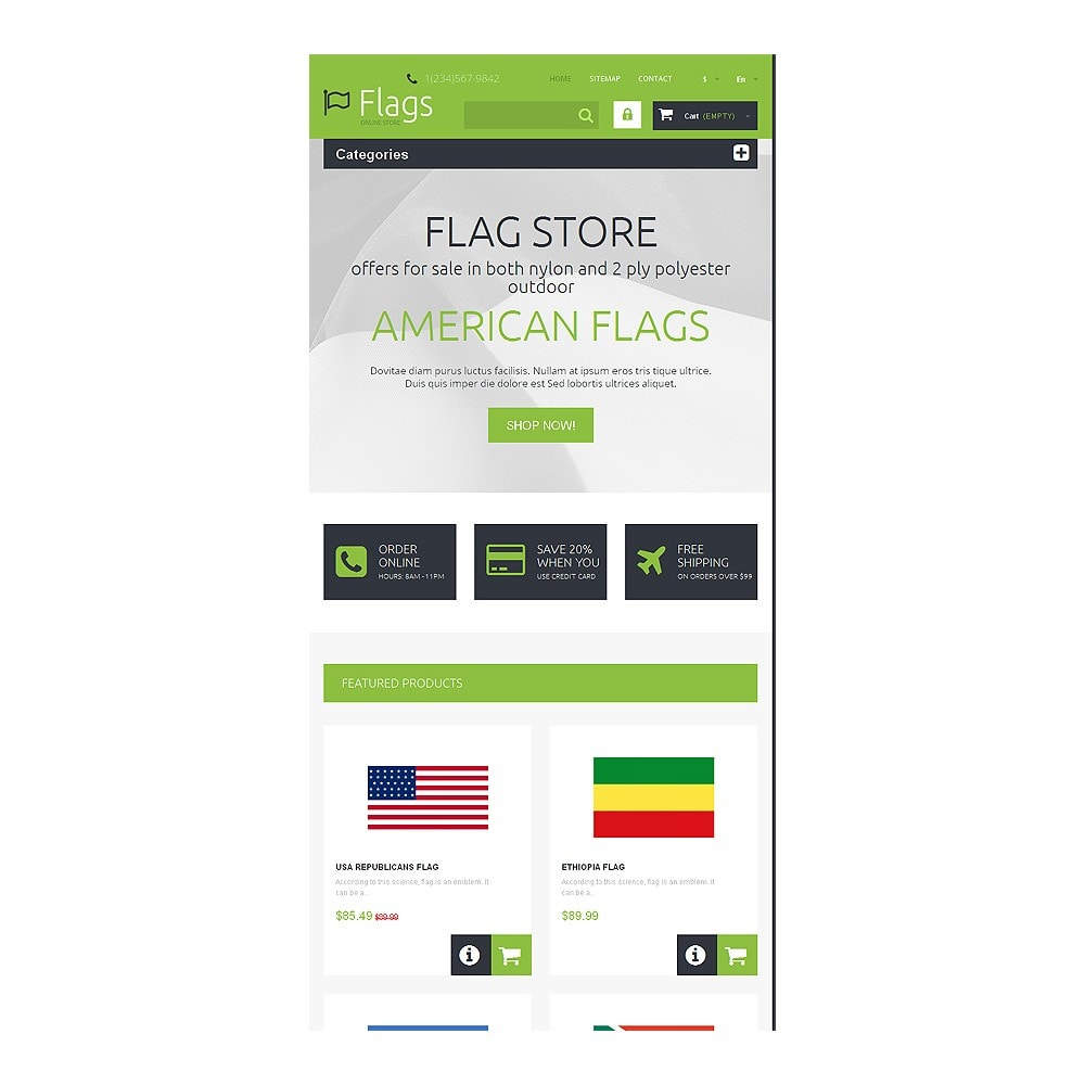 theme - PrestaShop thema's - Flags for True Patriots - 7