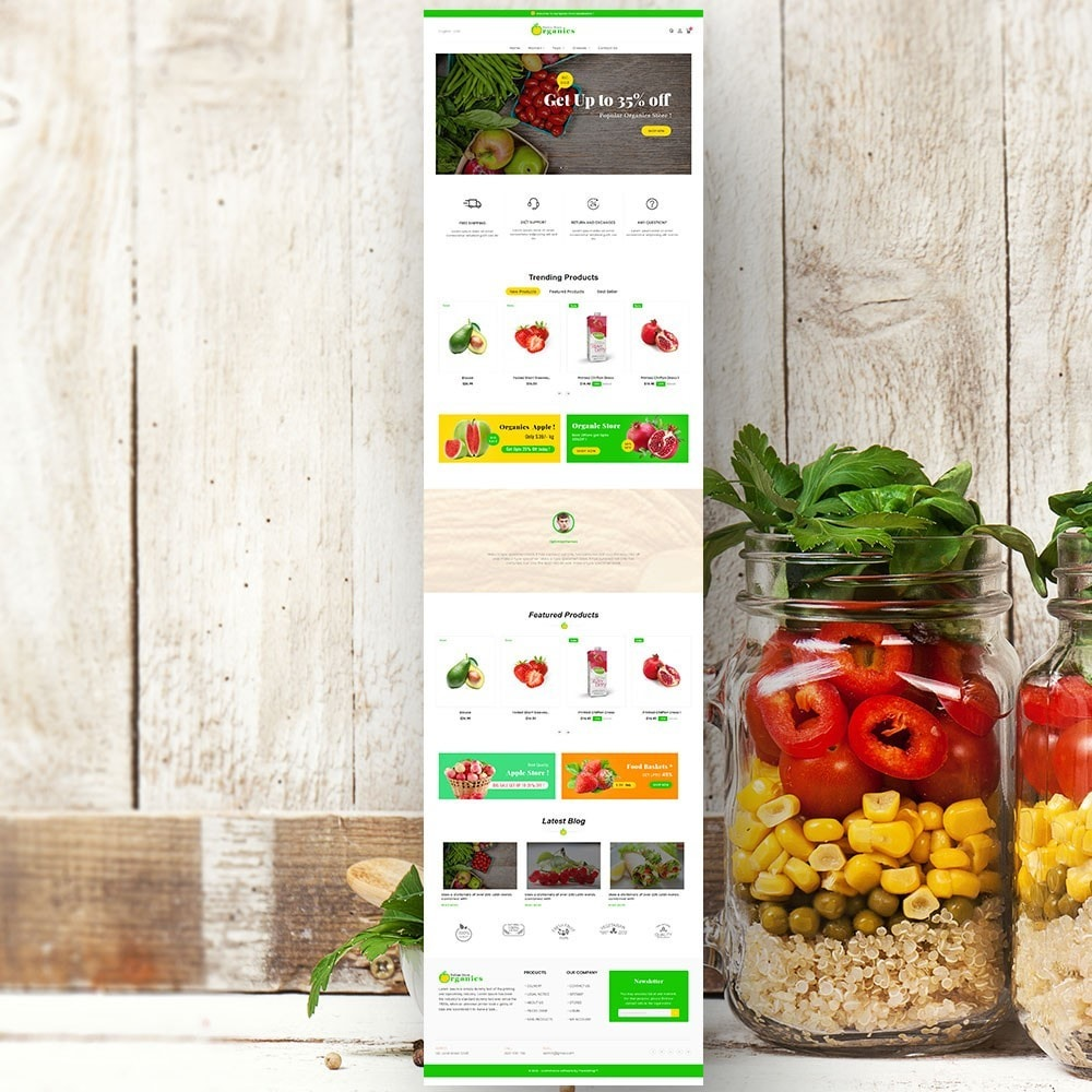theme - Alimentation & Restauration - Organic vegetable store - 3