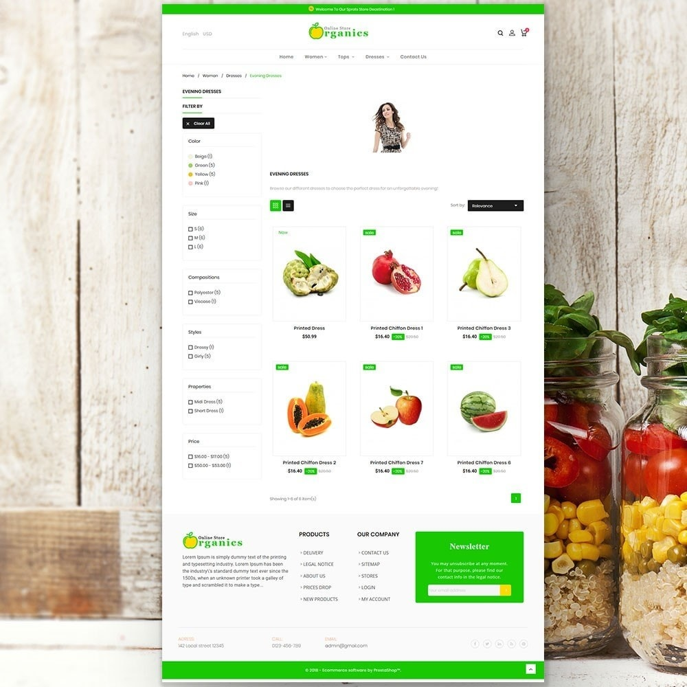 theme - Alimentation & Restauration - Organic vegetable store - 5