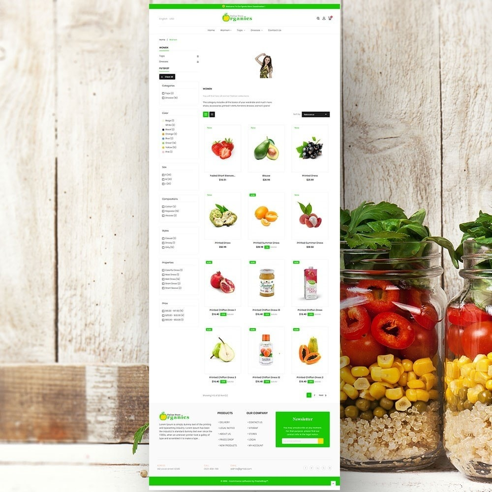 theme - Lebensmittel & Restaurants - Organic vegetable store - 4