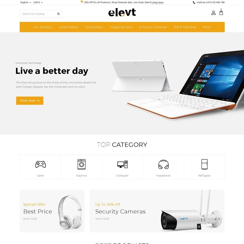 theme - Elettronica & High Tech - Elevt - The Electronic Store - 2