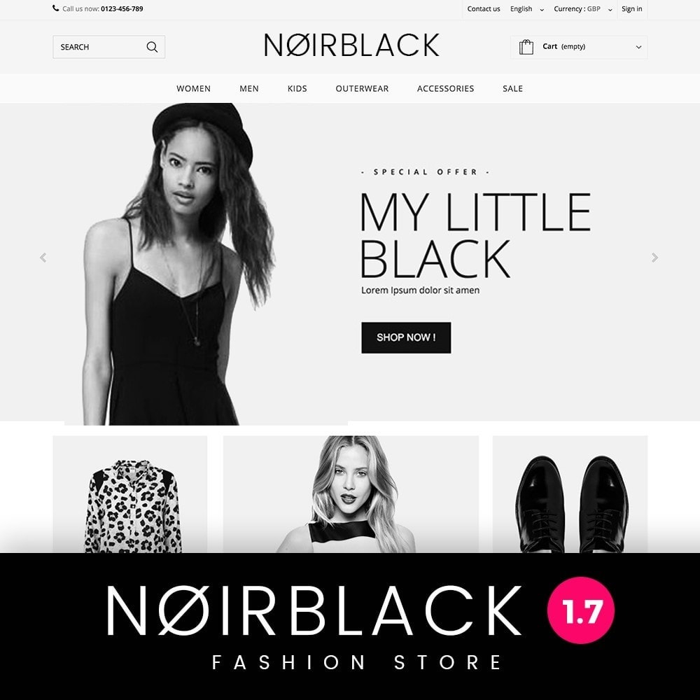 theme - Mode & Chaussures - Noirblack - 1