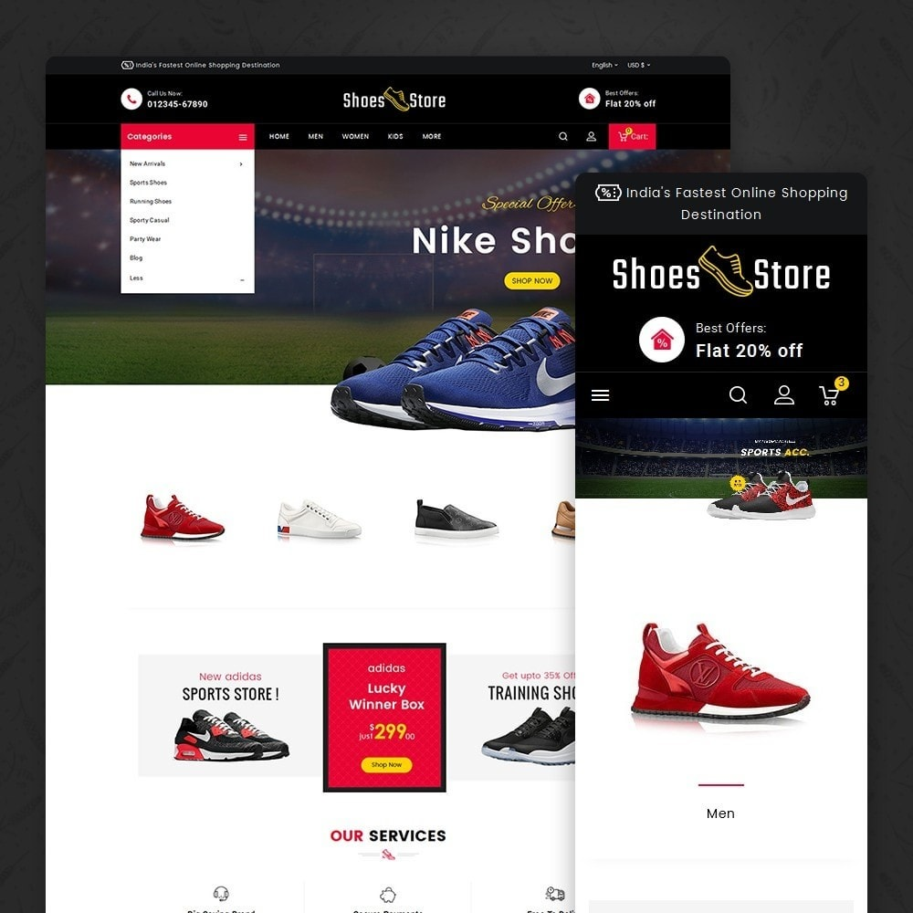 theme - Sport, Aktivitäten & Reise - Sports Shoes Store - 1