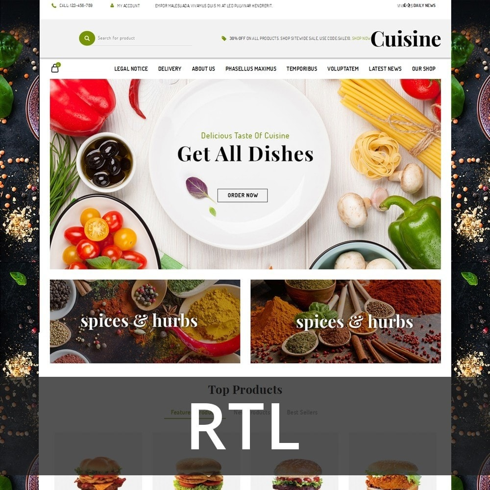 theme - Alimentation & Restauration - Cuisine - The Food Shop - 3