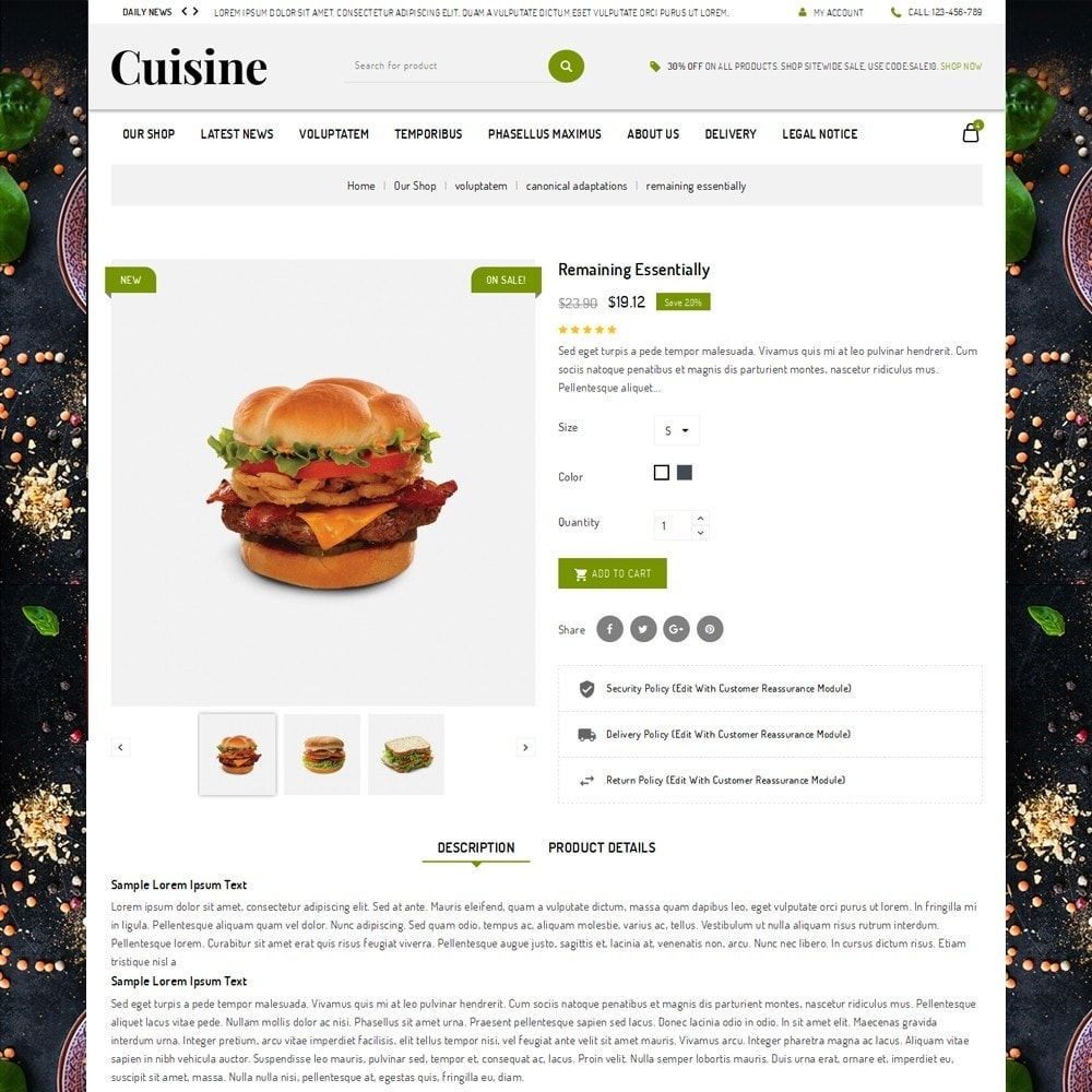 theme - Food & Restaurant - Cuisine - The Food Shop - 5