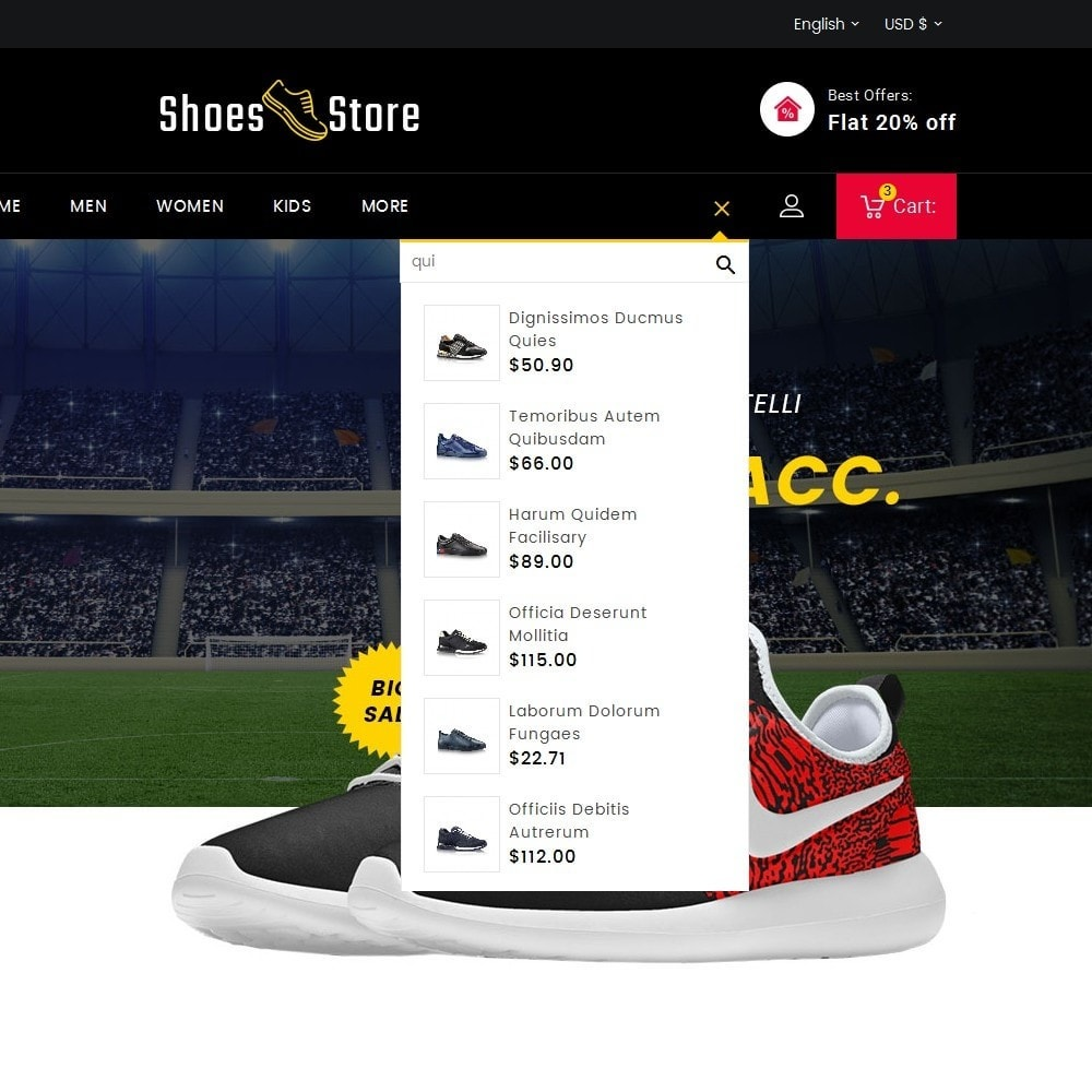 theme - Desporto, Actividades & Viagens - Sports Shoes Store - 9