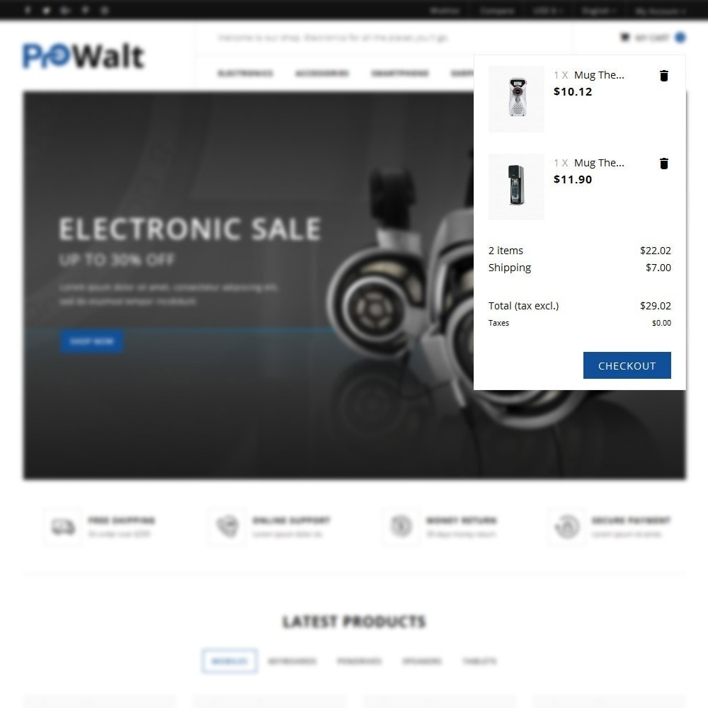 theme - Elektronik & High Tech - ProWalt Electronic Store - 7