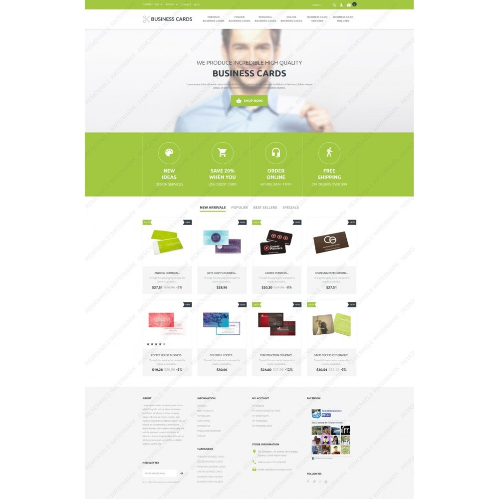 theme - Template PrestaShop - Business Cards Store - 3