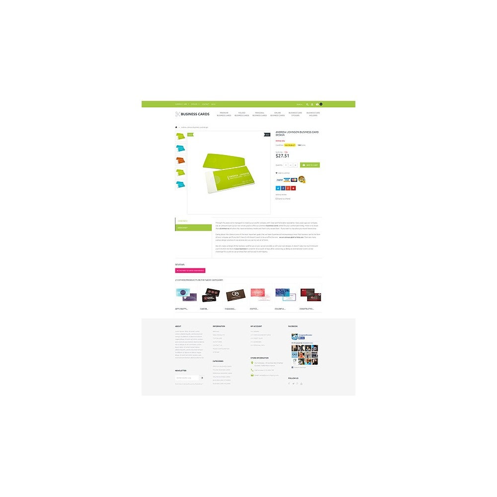 theme - PrestaShop thema's - Business Cards Store - 6
