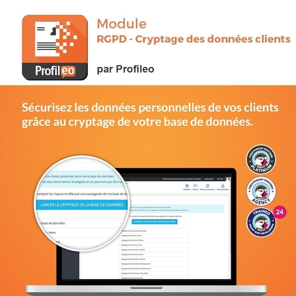 module - Législation - RGPD - Cryptage des données clients - 1