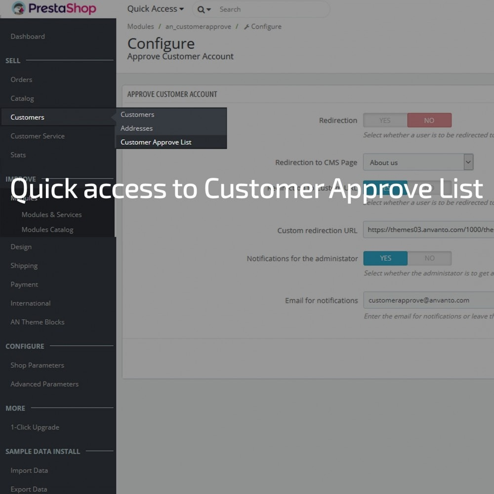 module - Klantendienst - Customer Account Activation / New account moderation - 3
