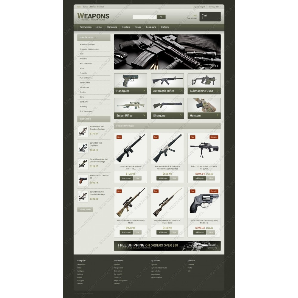 theme - Temas PrestaShop - Weapons of All Calibres - 5