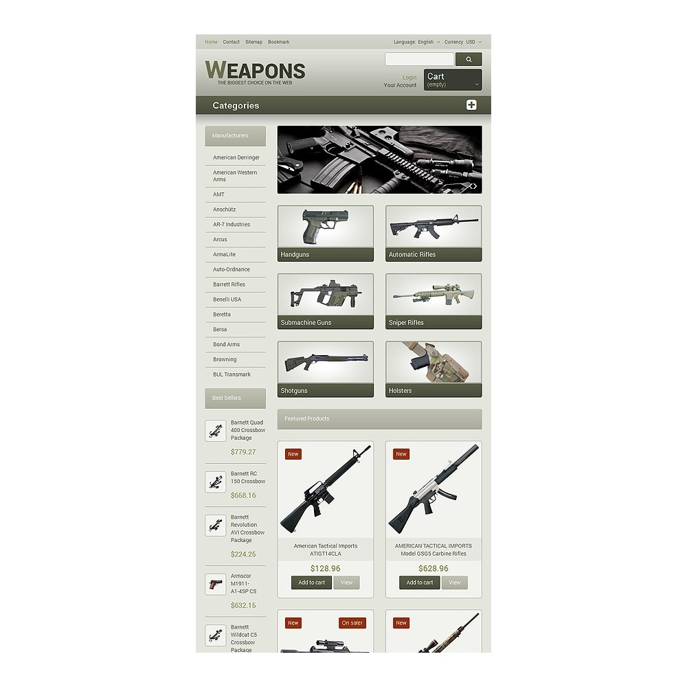 theme - Temas PrestaShop - Weapons of All Calibres - 7