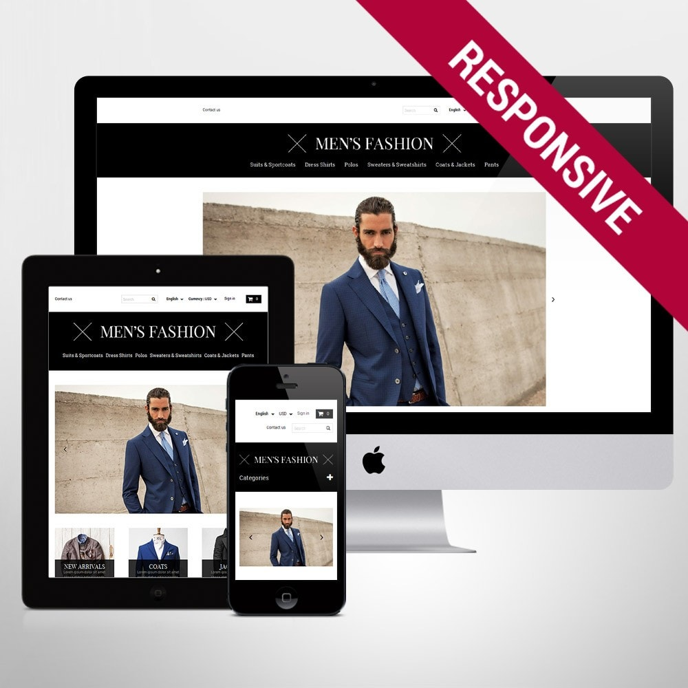 theme - Fashion & Shoes - Men's Corporate Fashion Shop - 1
