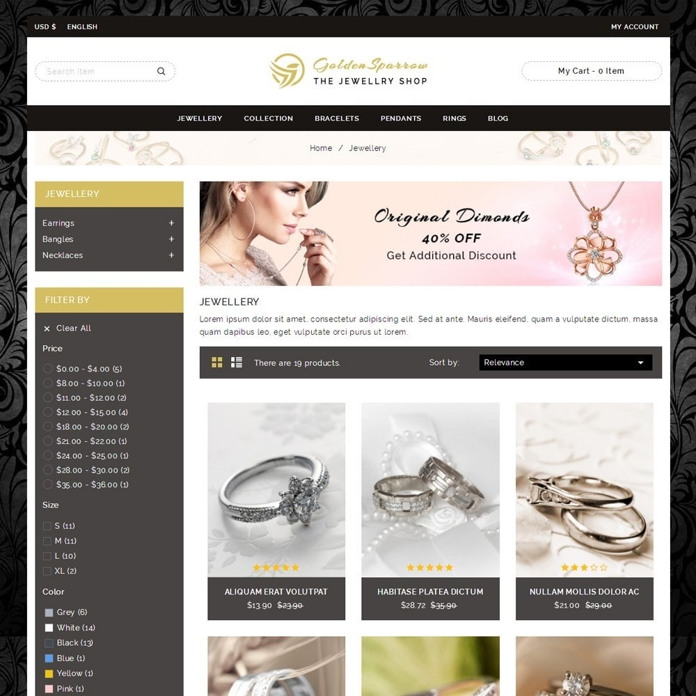 theme - Sieraden & Accessoires - Golden Sparrow - Jewelry Shop - 3