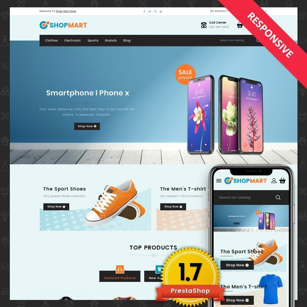 theme - Электроника и компьютеры - Shopmart - Mega Shop - 1