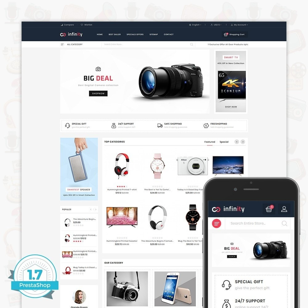 theme - Eletrônicos & High Tech - Infinity - The Mega Ecommerce Store - 1