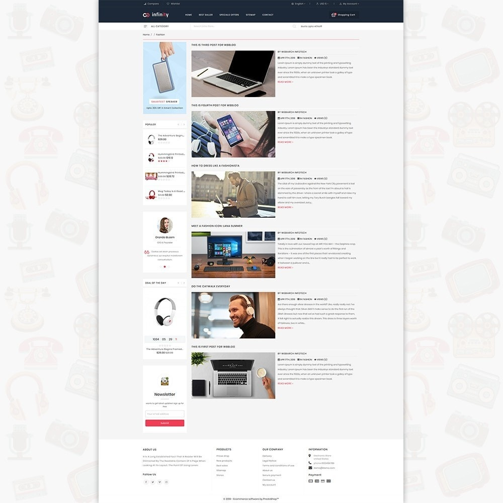 theme - Electronique & High Tech - Infinity - The Mega Ecommerce Store - 6