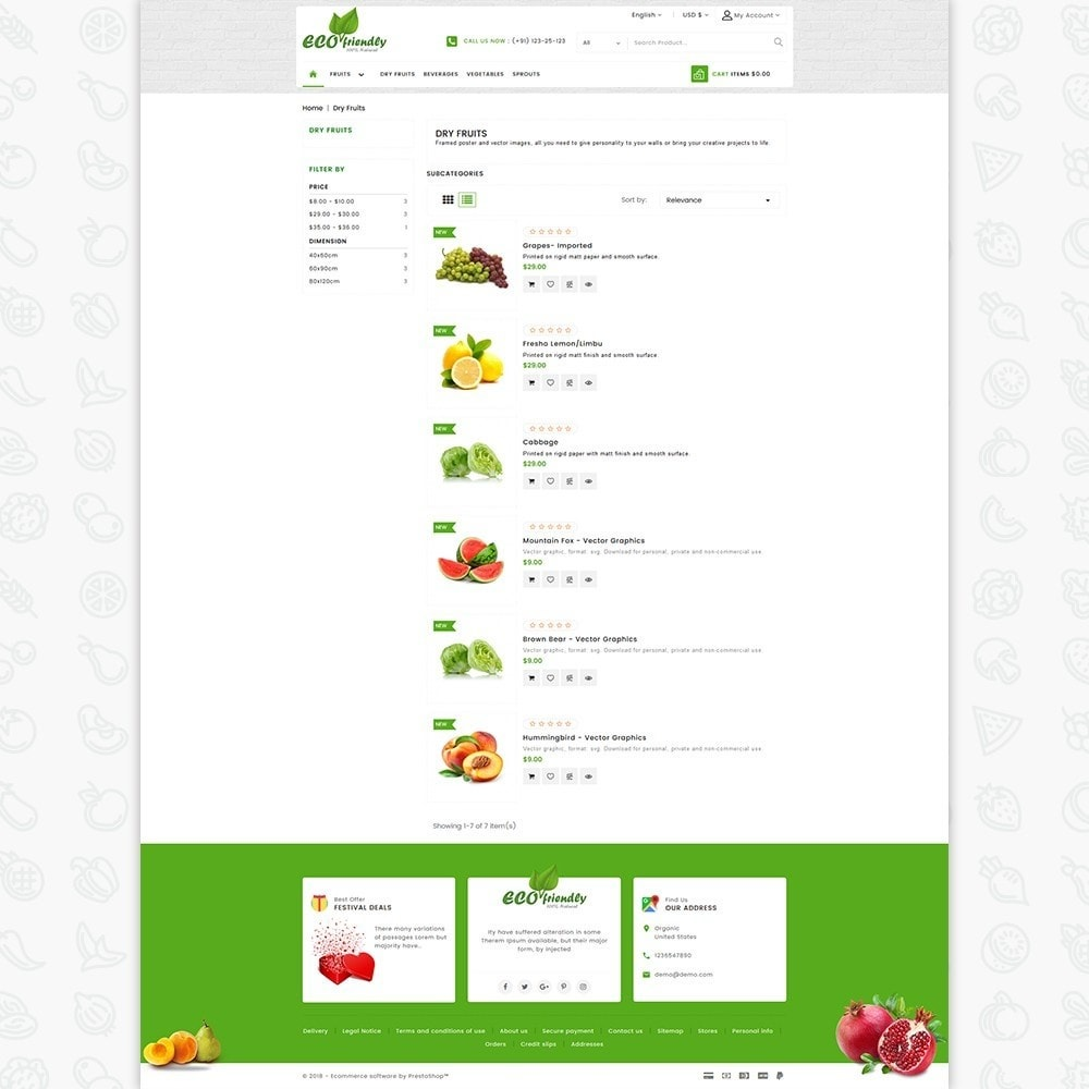 theme - Health & Beauty - Eco  - Friendly Organic Food Template - 4