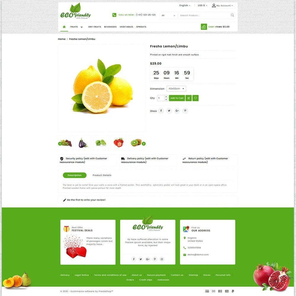 theme - Health & Beauty - Eco  - Friendly Organic Food Template - 5