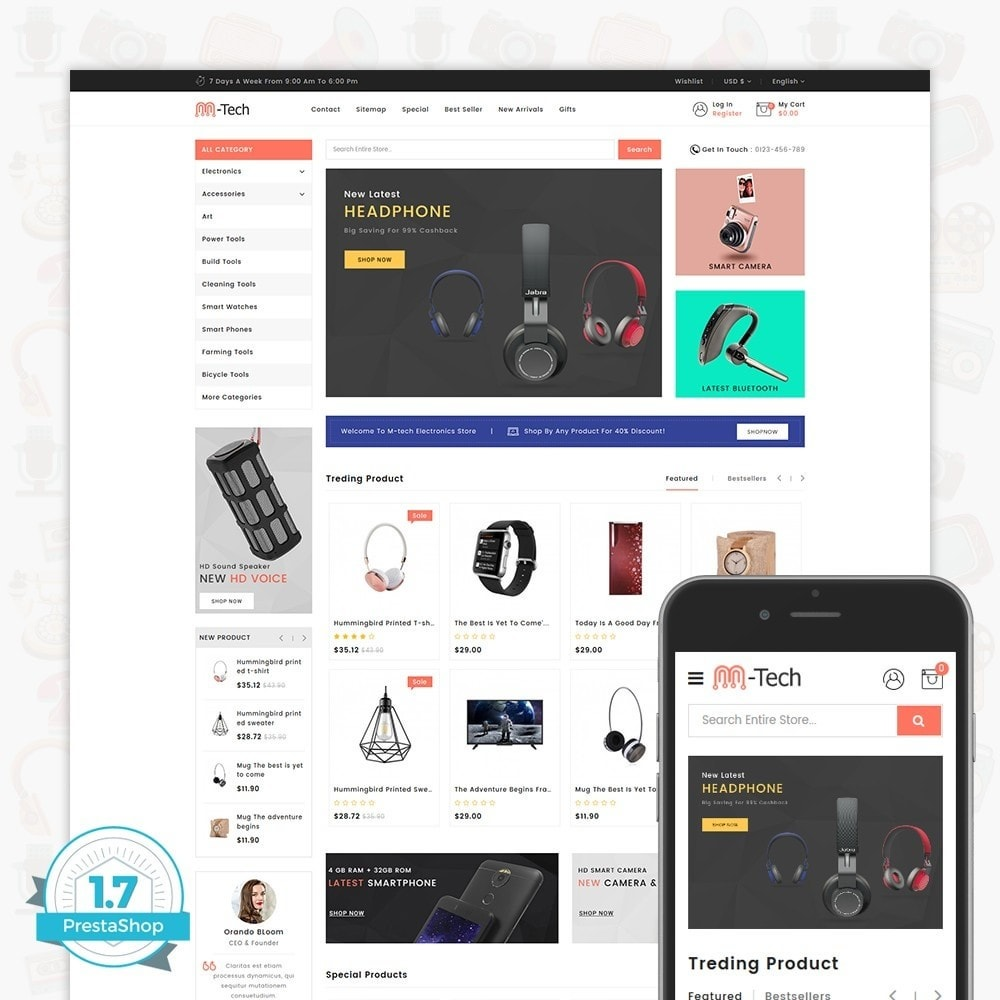 theme - Elektronika & High Tech - M-Tech- The Online Shopping - 1