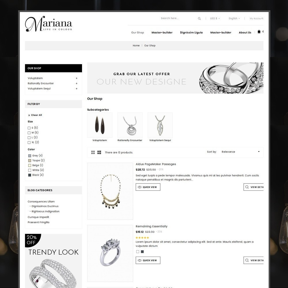 theme - Jewelry & Accessories - Mariana - The Jewelry Store - 5