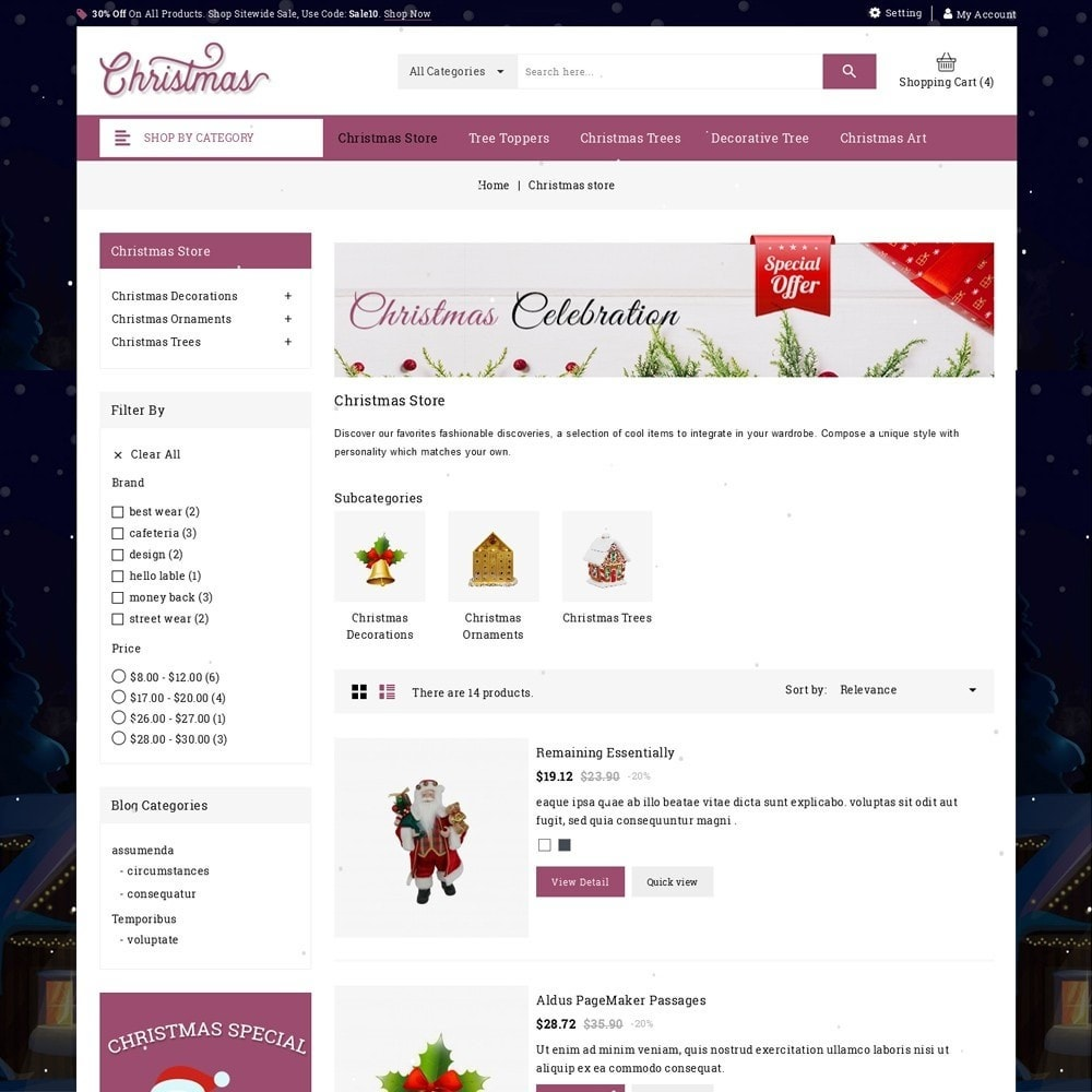 theme - Gifts, Flowers & Celebrations - Christmas - The Gift Shop - 5