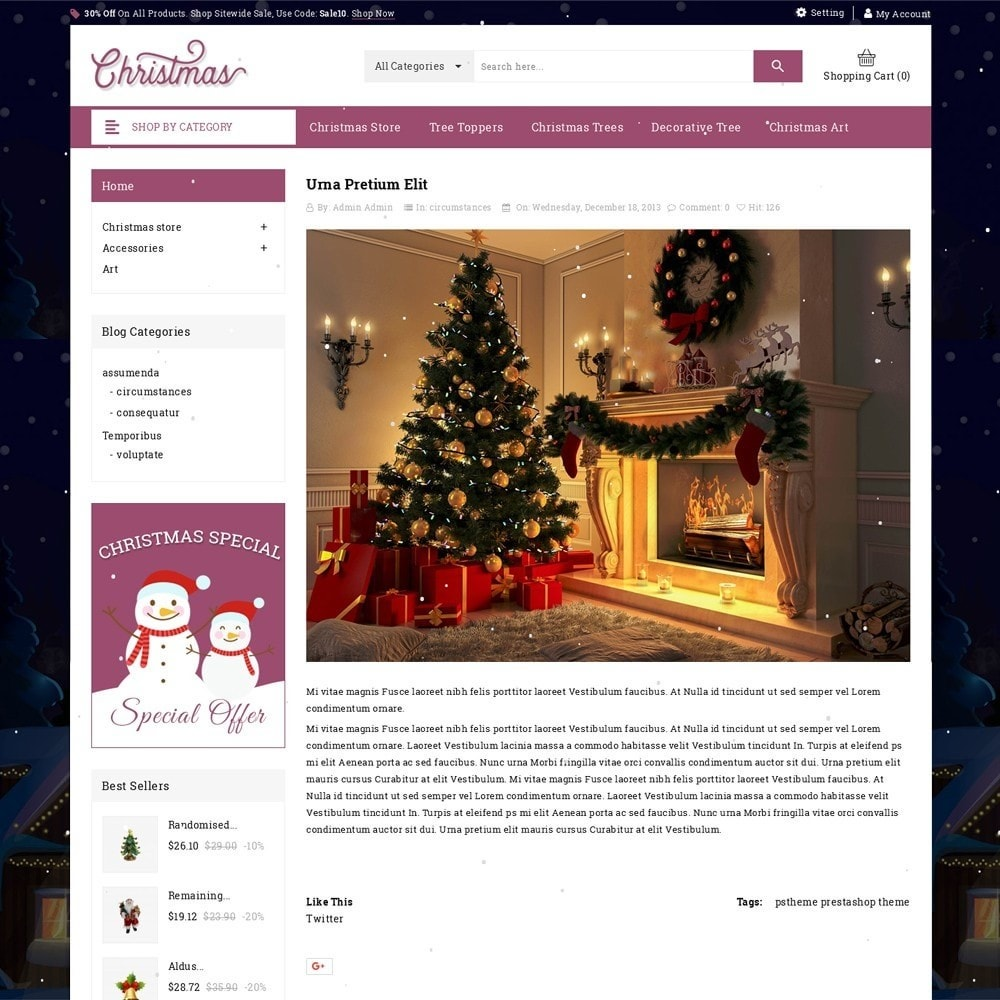 theme - Подарки, Цветы и праздничные товары - Christmas - The Gift Shop - 7