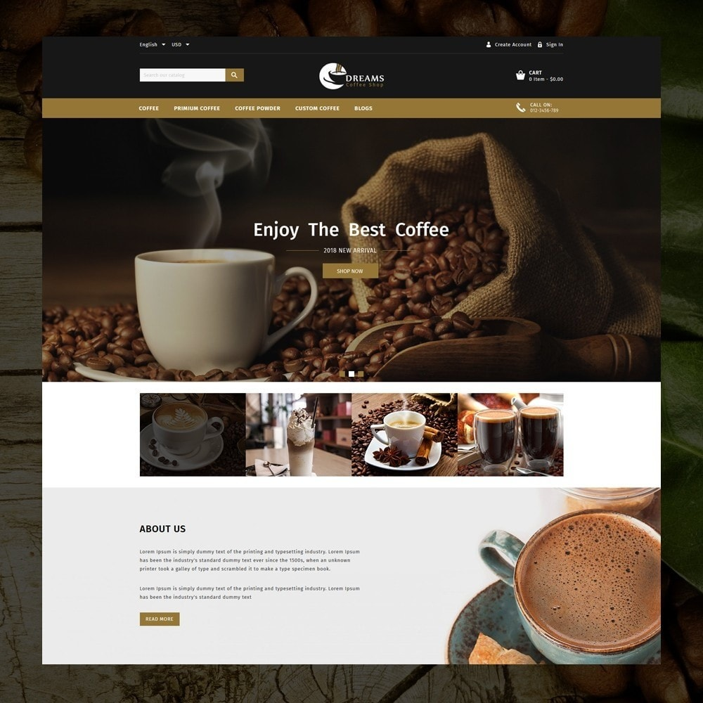 theme - Cibo & Ristorazione - Dreams - Coffee Shop - 2
