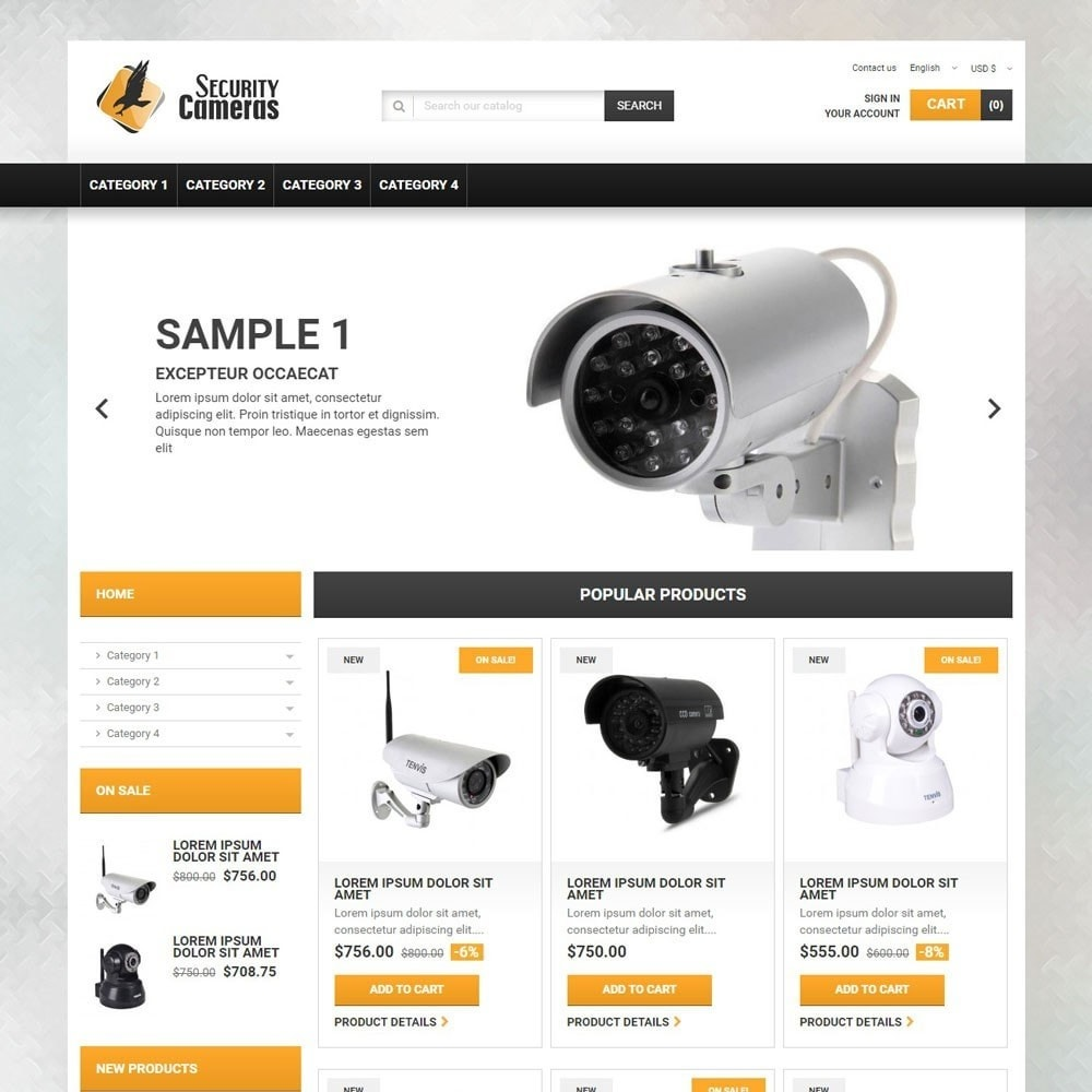 theme - Electronique & High Tech - SecurityCameras - 1