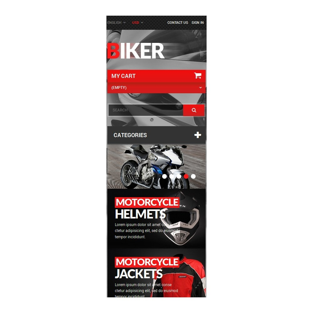 theme - Automotive & Cars - Biker - 9