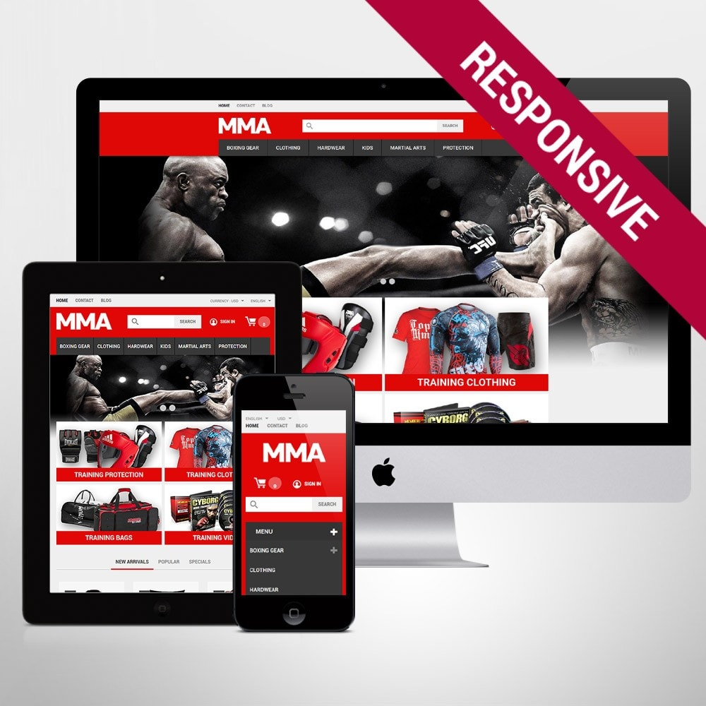 theme - Sports, Activities & Travel - MMA Outfit Store - 1