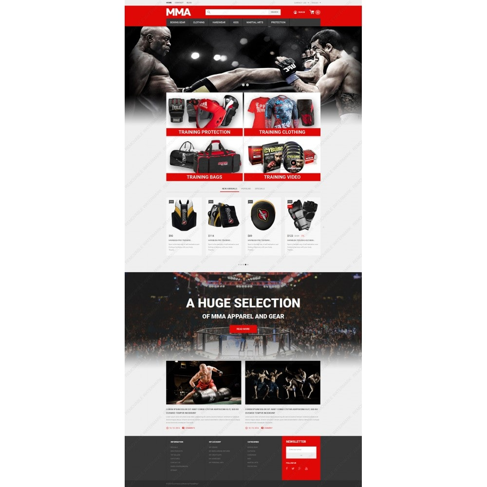 theme - Sports, Activities & Travel - MMA Outfit Store - 3