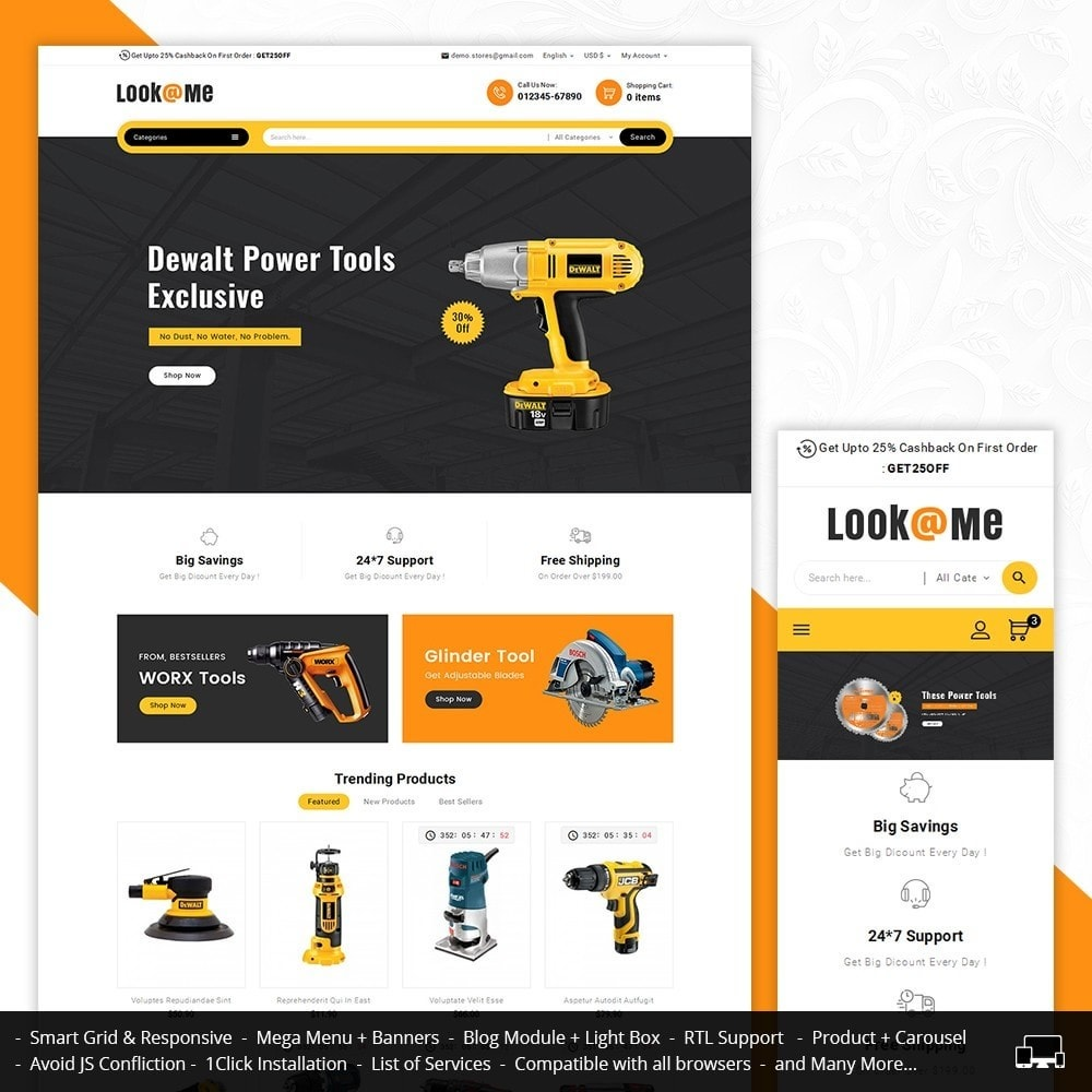 theme - Электроника и компьютеры - Look me Tools Equipment - 1