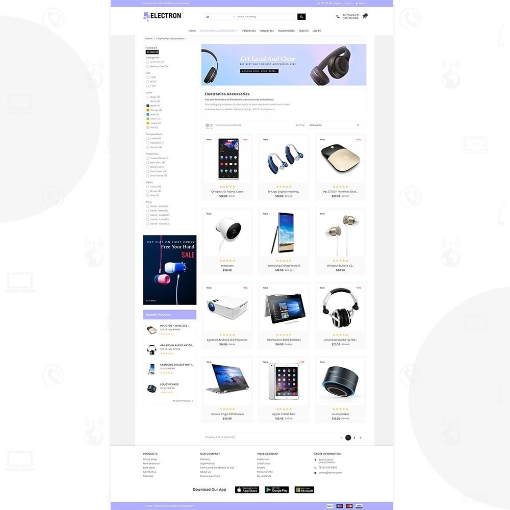theme - Eletrônicos & High Tech - Electron – Electronics and Digital Super Store - 3