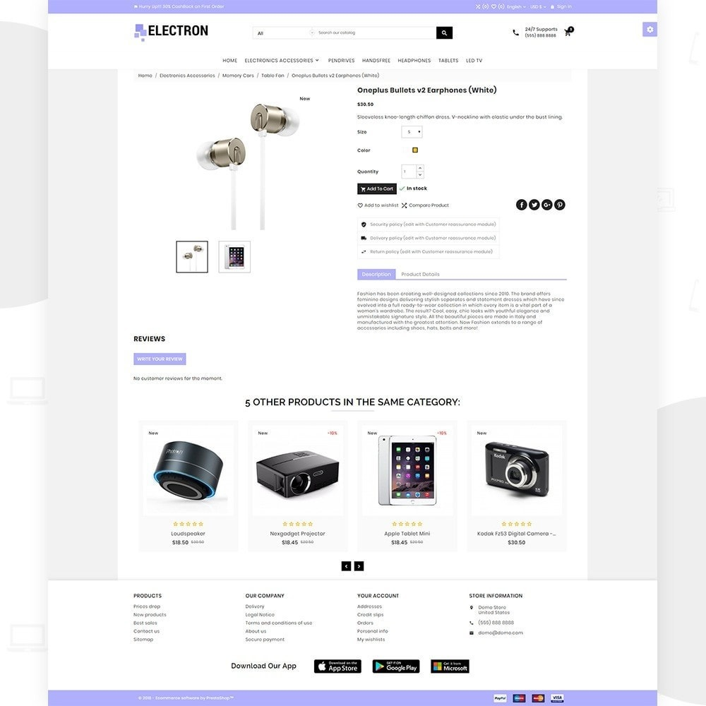 theme - Eletrônicos & High Tech - Electron – Electronics and Digital Super Store - 4