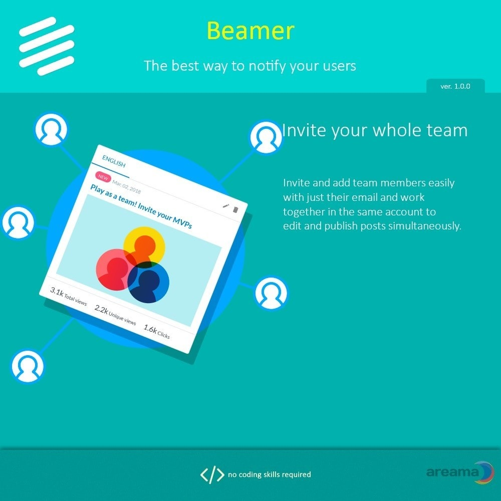 module - Блог, форумов и новостей - Beamer – The best way to notify your users - 9