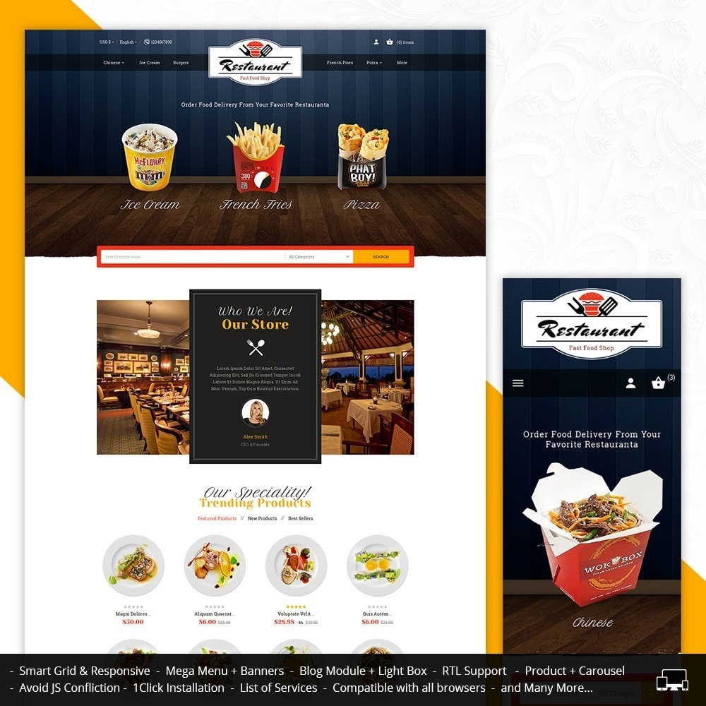 theme - Food & Restaurant - Restaurant Food - 1