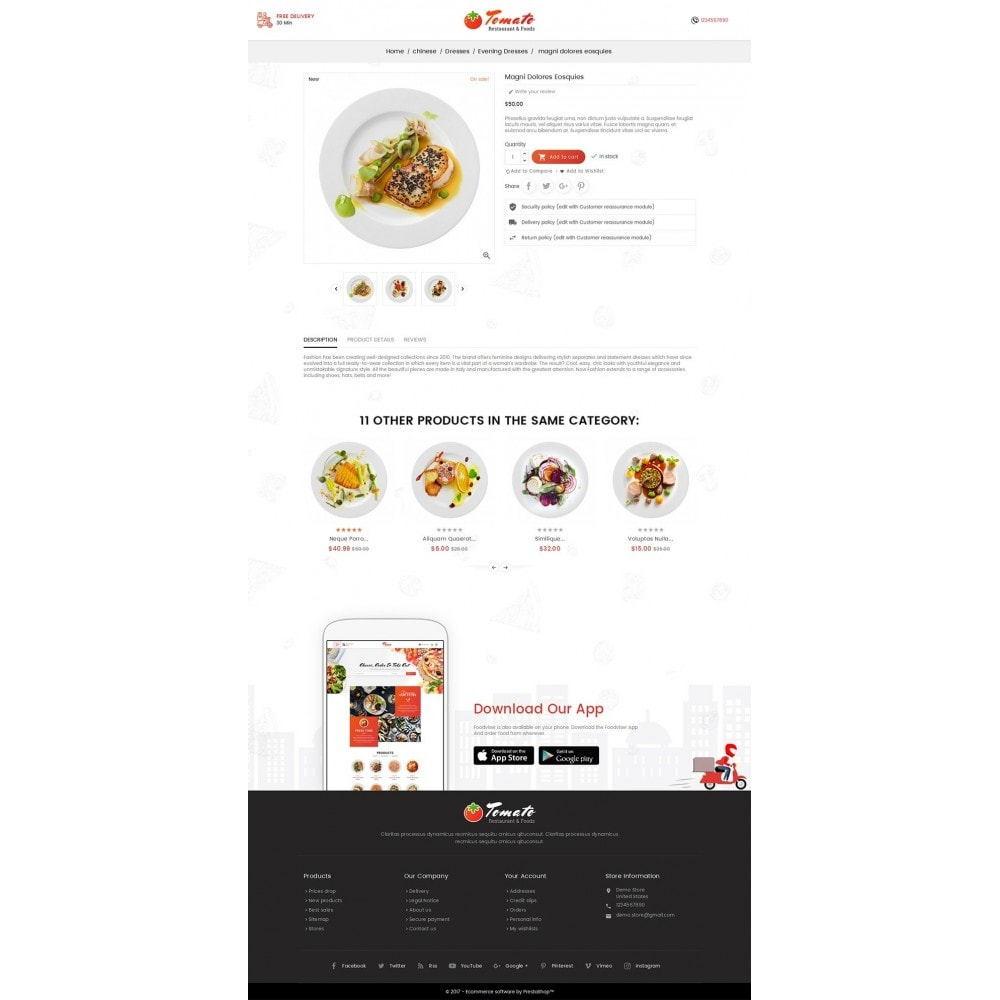 theme - Alimentation & Restauration - Tomato Food & Restaurant - 5