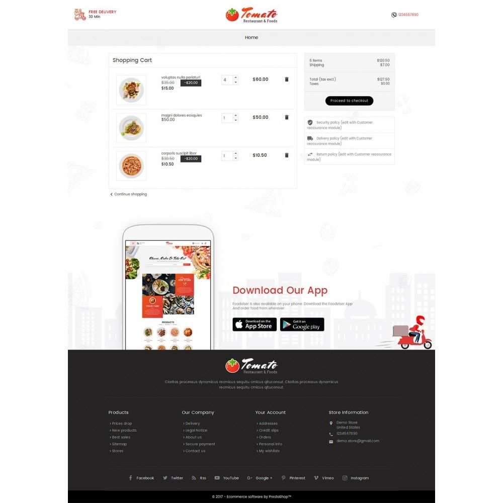 theme - Alimentation & Restauration - Tomato Food & Restaurant - 6