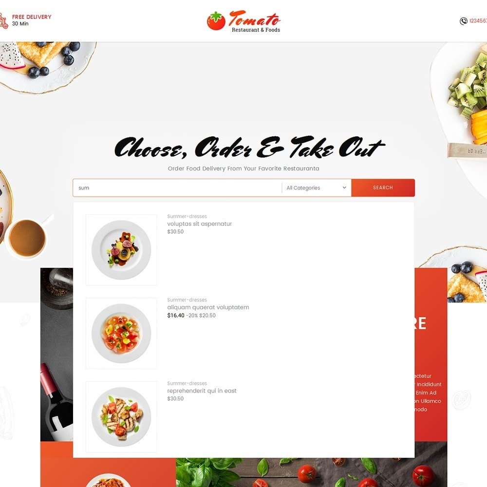 theme - Alimentation & Restauration - Tomato Food & Restaurant - 10