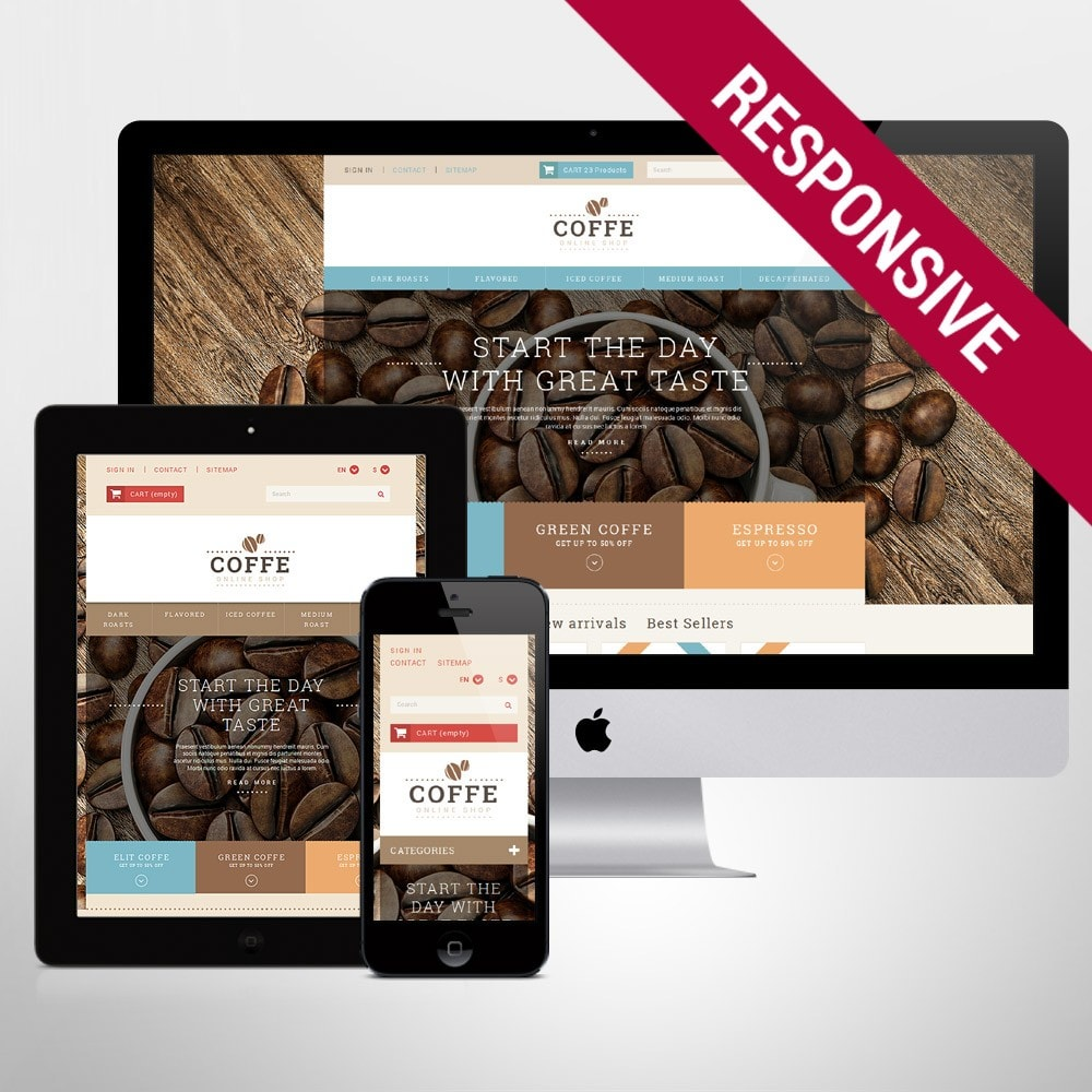 theme - Alimentation & Restauration - White PrestaShop Theme by WT - 1