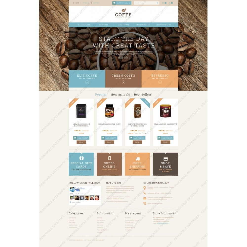 theme - Cibo & Ristorazione - White PrestaShop Theme by WT - 3