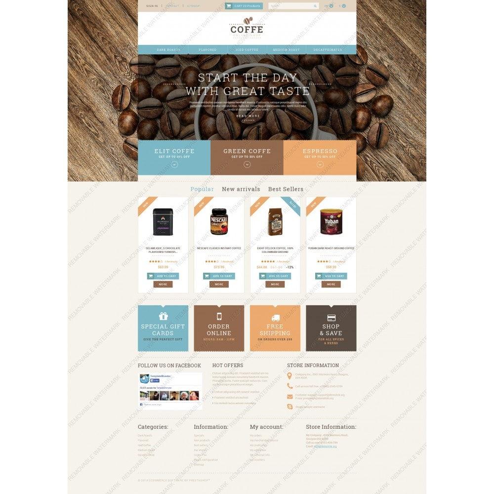 theme - Alimentation & Restauration - White PrestaShop Theme by WT - 5