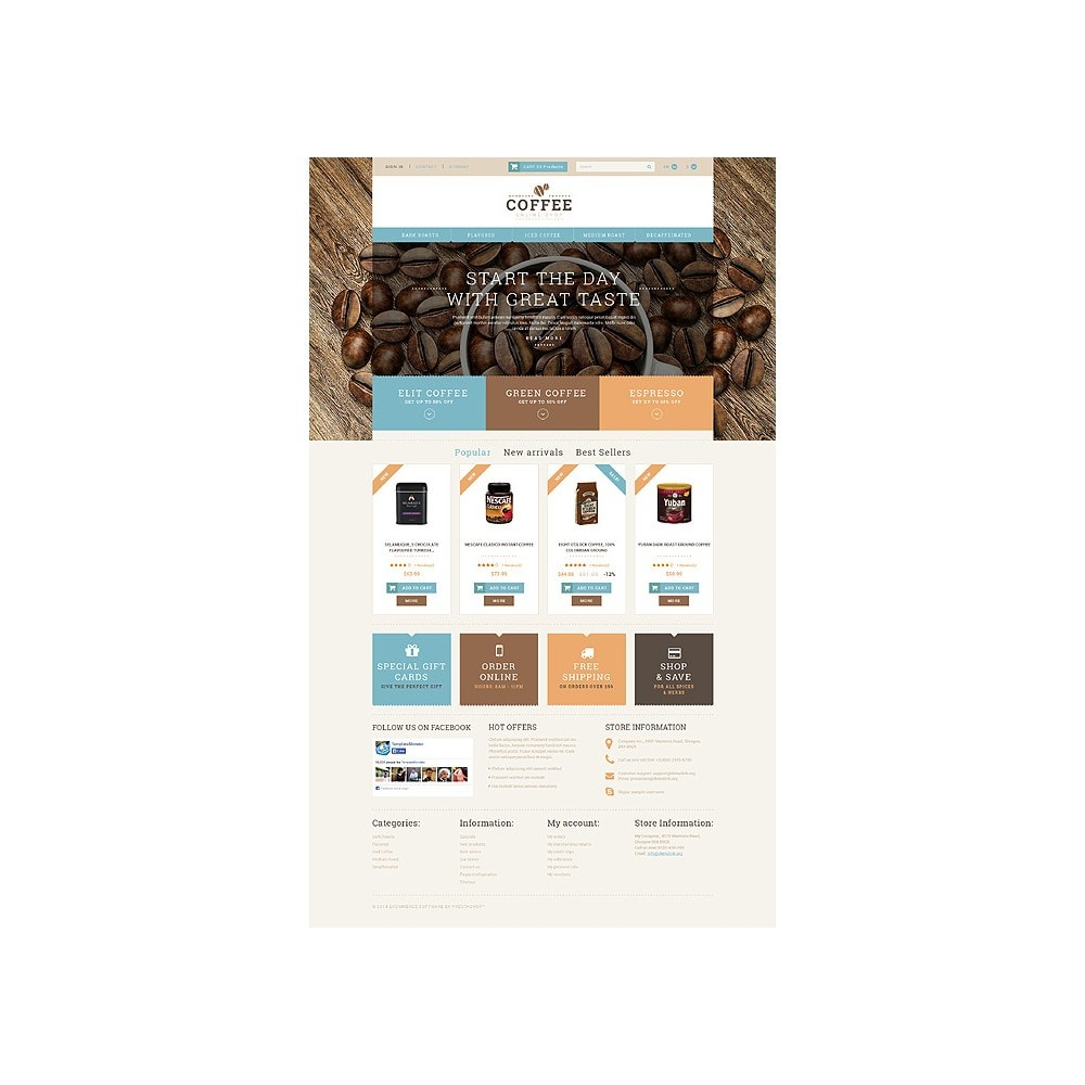 theme - Cibo & Ristorazione - White PrestaShop Theme by WT - 10