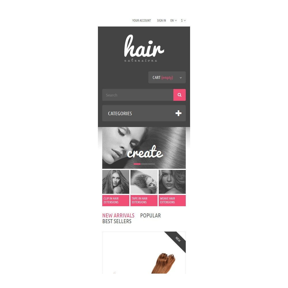 theme - Fashion & Shoes - Hair Extensions Store - 9