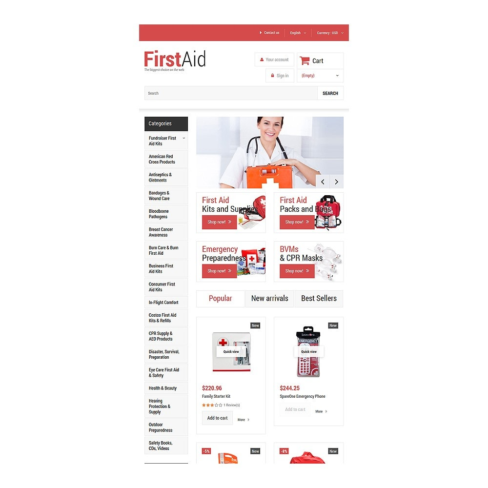 theme - Salute & Bellezza - First Aid Store - 7