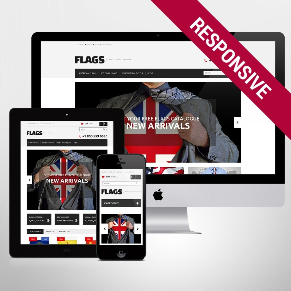 theme - Шаблоны PrestaShop - Flag Shop - 1