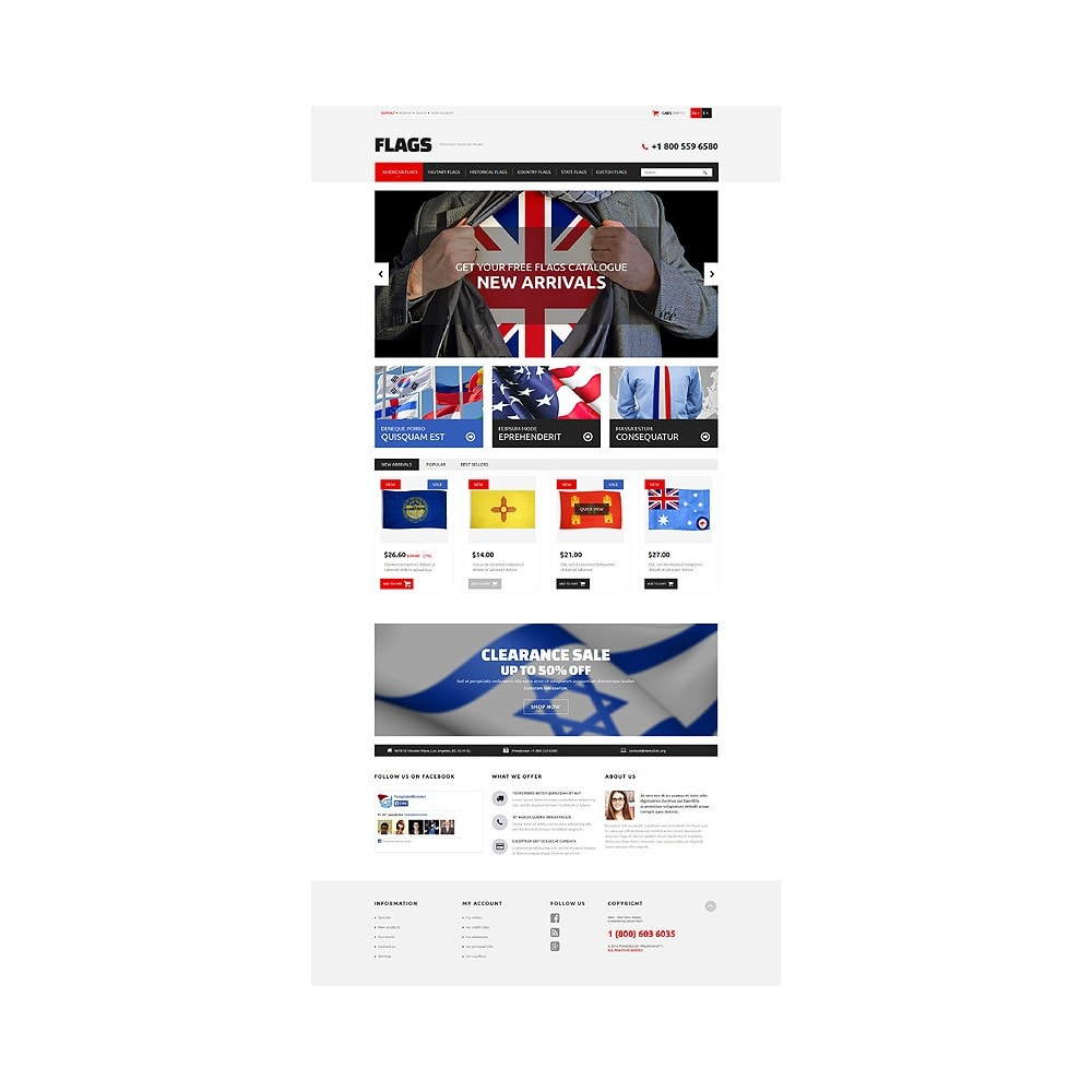 theme - Шаблоны PrestaShop - Flag Shop - 10