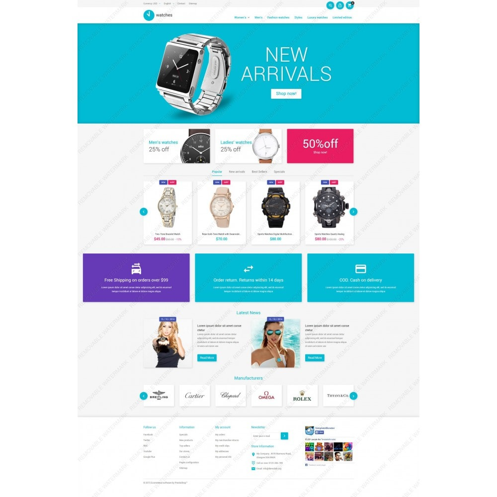 theme - Fashion & Shoes - Watches Store - 3